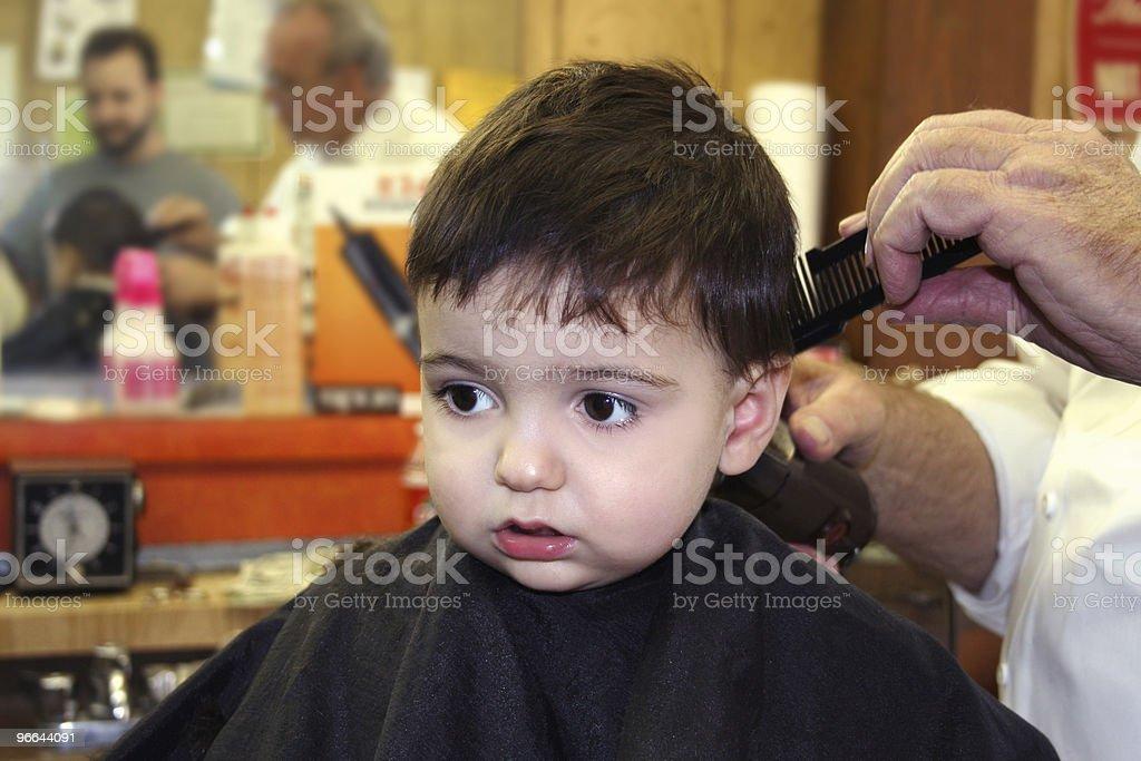 Boy At The Barbershop royalty-free stock photo