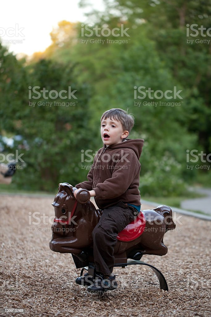 Boy at the Playground stock photo