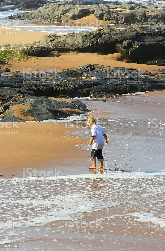 Boy at the Seaside royalty-free stock photo