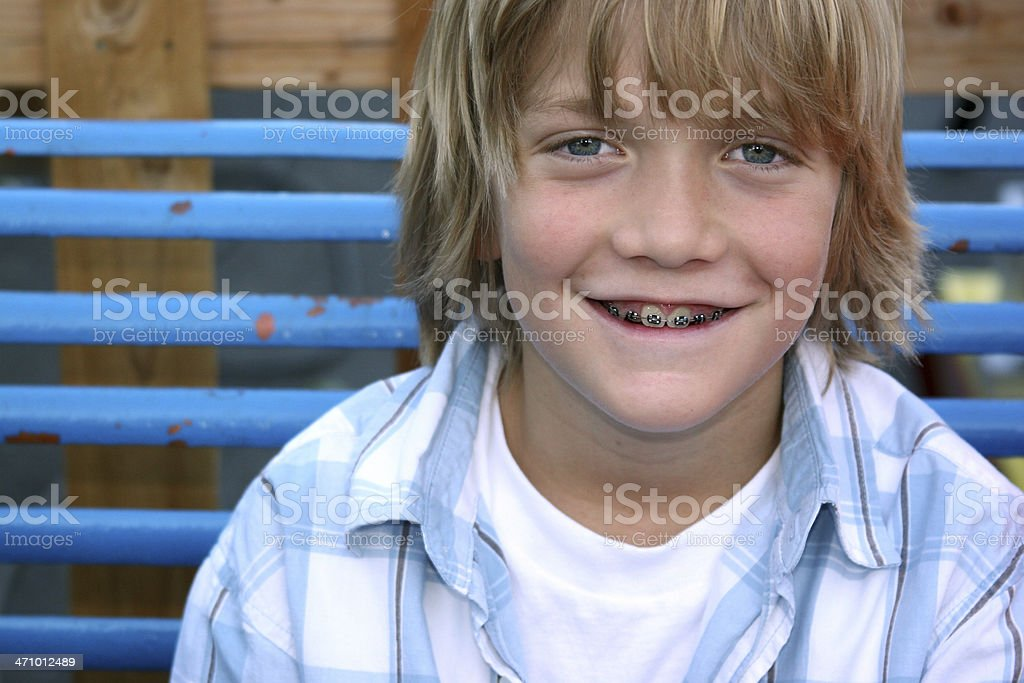 Boy Braces royalty-free stock photo