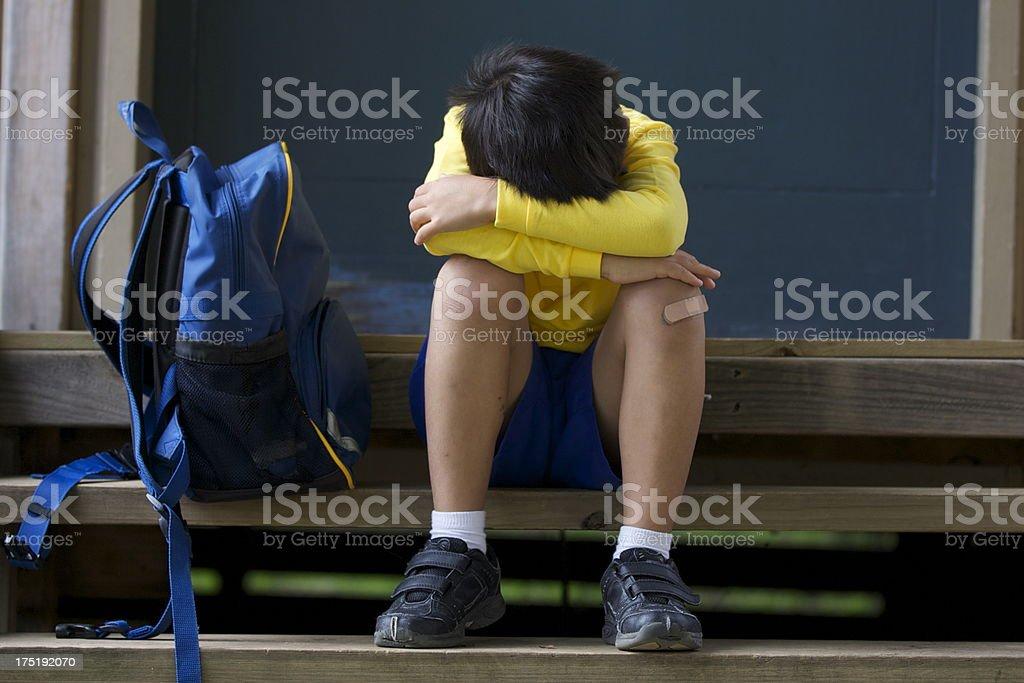 Boy bullied royalty-free stock photo
