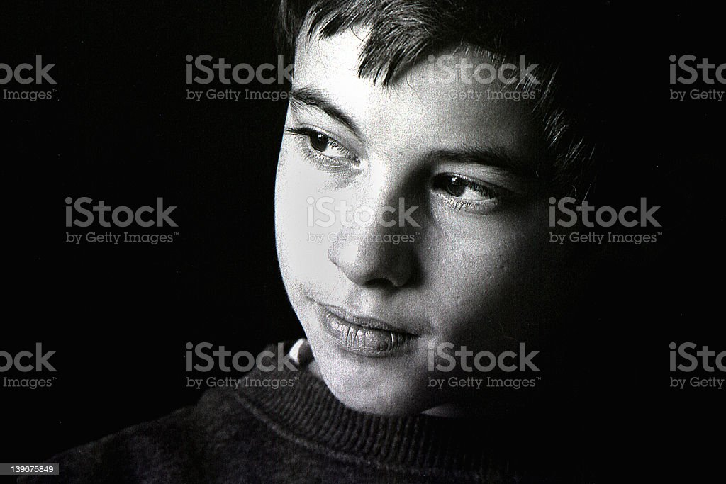 Boy by the window royalty-free stock photo