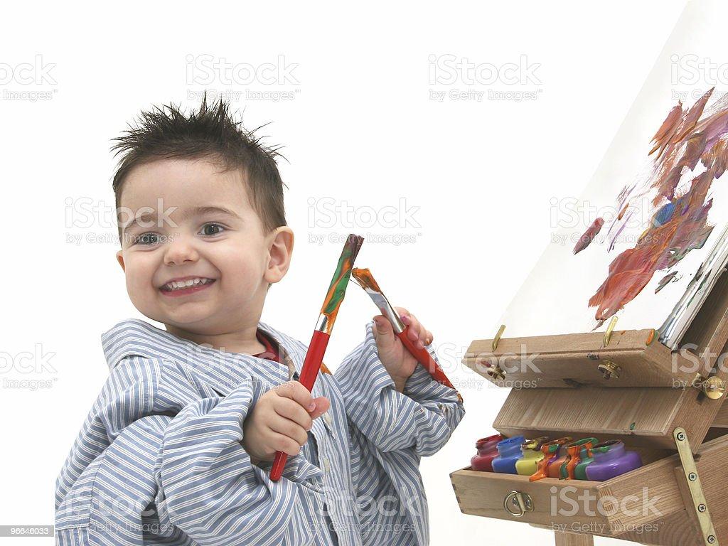 Boy Child Painting 06 royalty-free stock photo