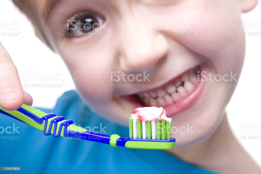 Boy cleans a teeth royalty-free stock photo