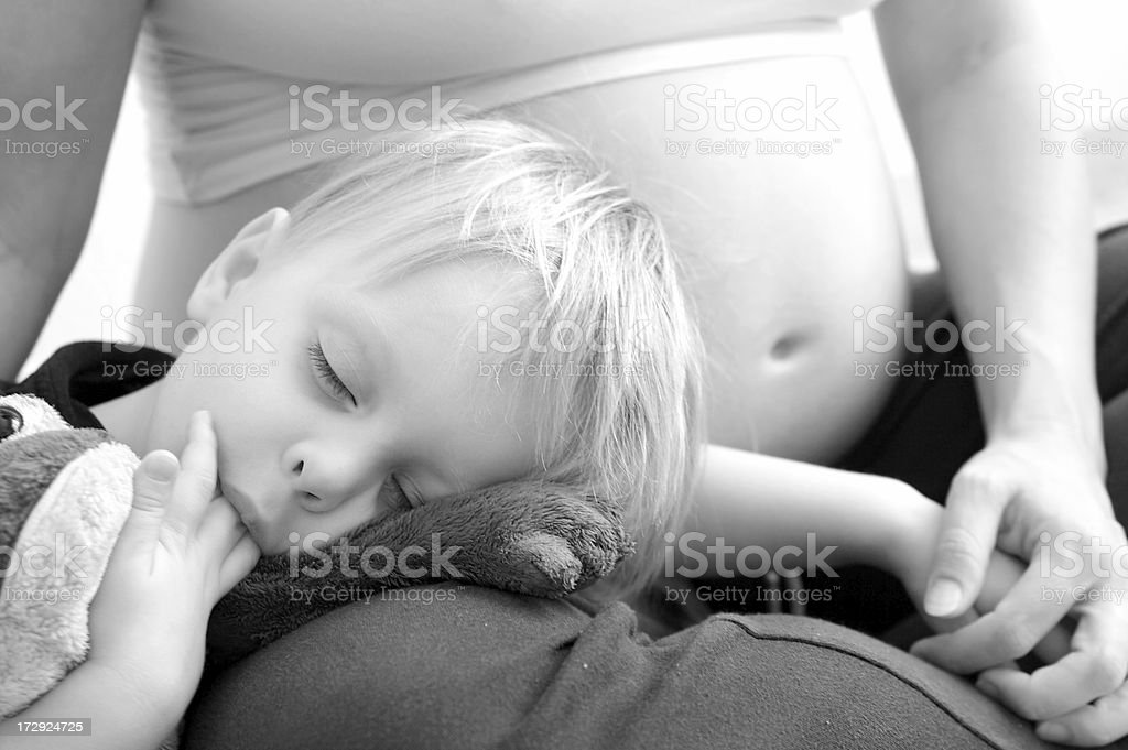 Boy Cuddles With Frog royalty-free stock photo