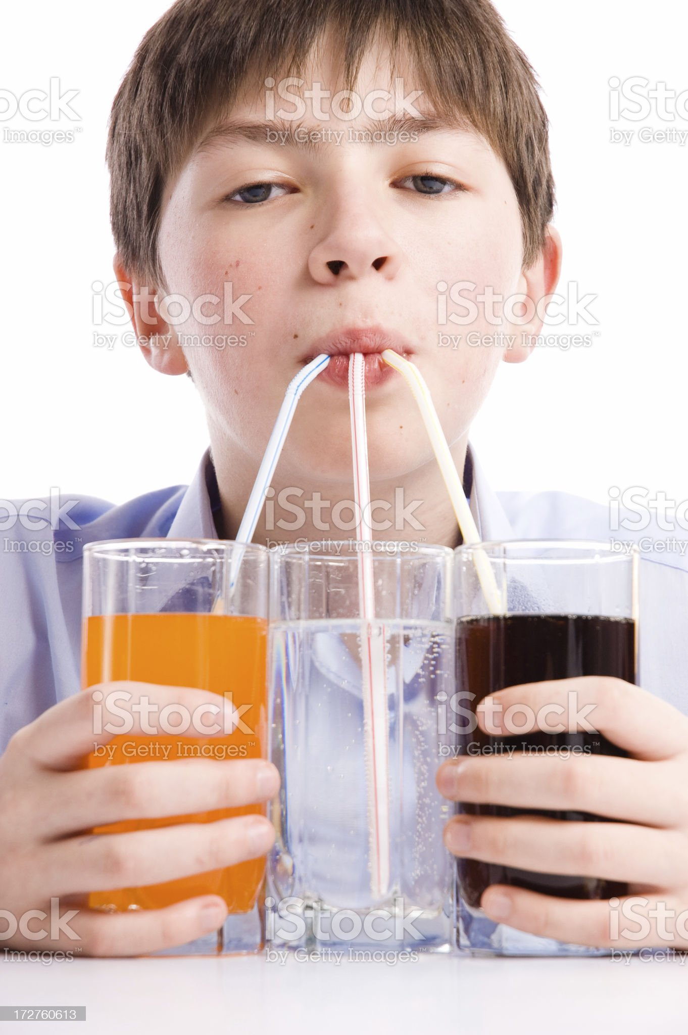 boy drinking royalty-free stock photo
