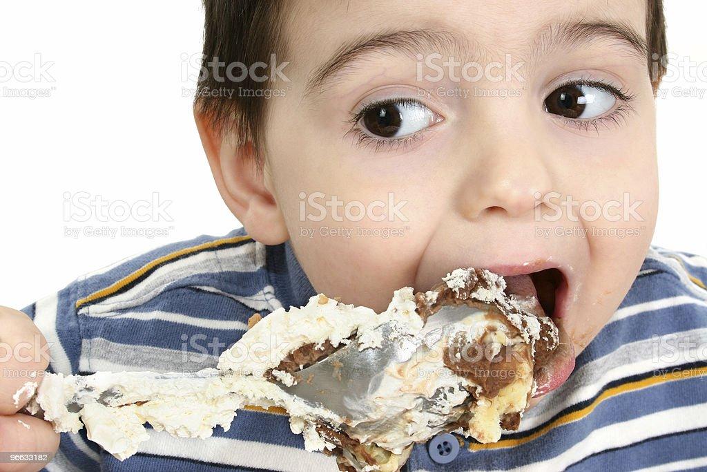 Boy Eating Possum Pie royalty-free stock photo