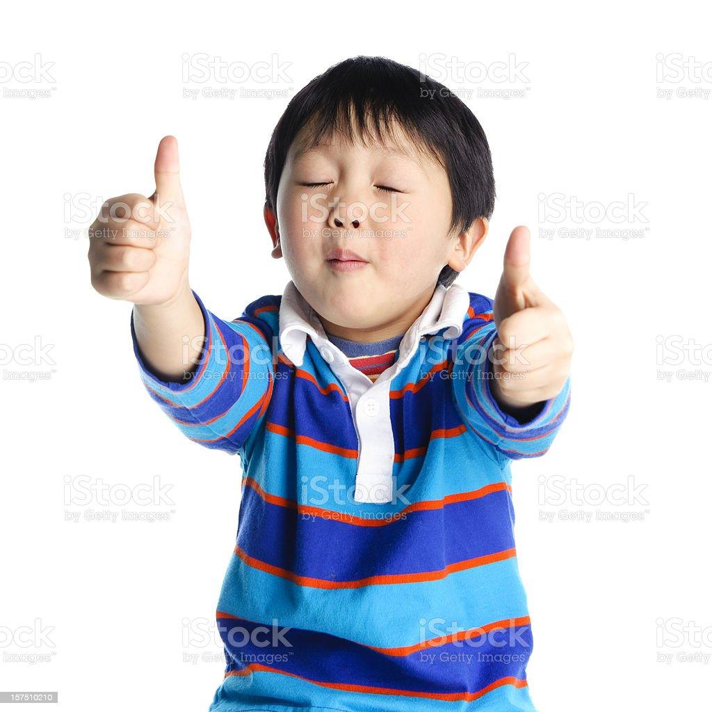 Boy Expressing SO GOOD! royalty-free stock photo