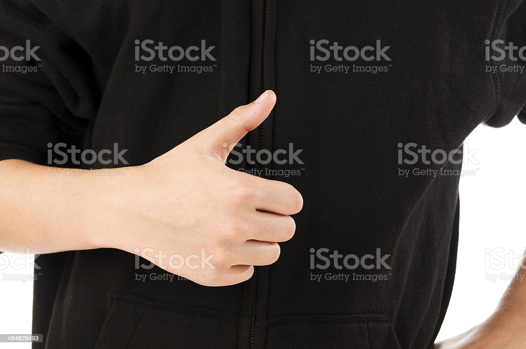 boy finger count one stock photo
