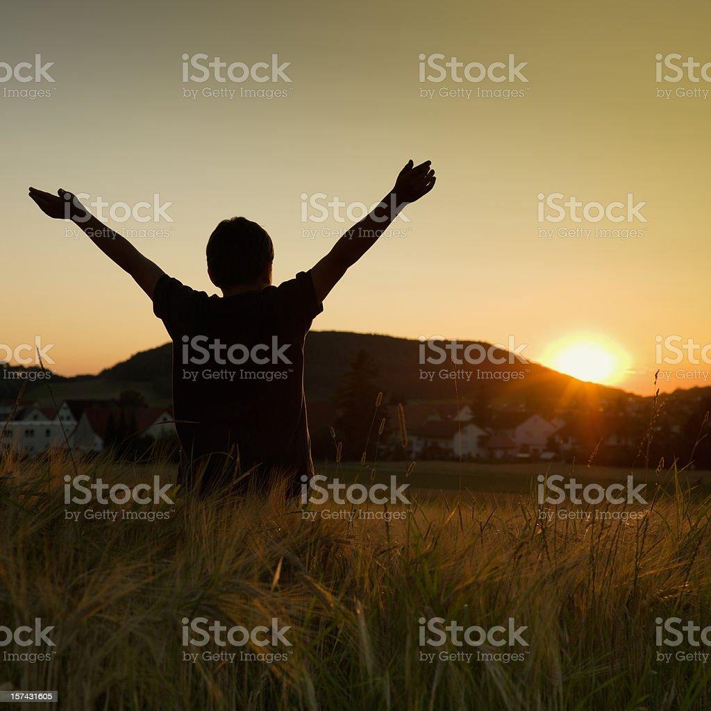 Boy Freedom royalty-free stock photo