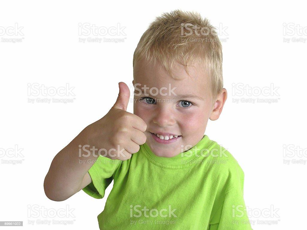 boy giving OK royalty-free stock photo