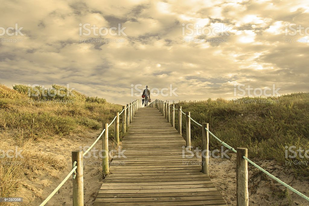 boy goes to heaven royalty-free stock photo