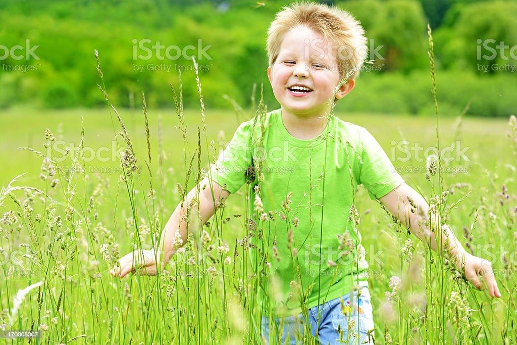 Boy having fun. royalty-free stock photo