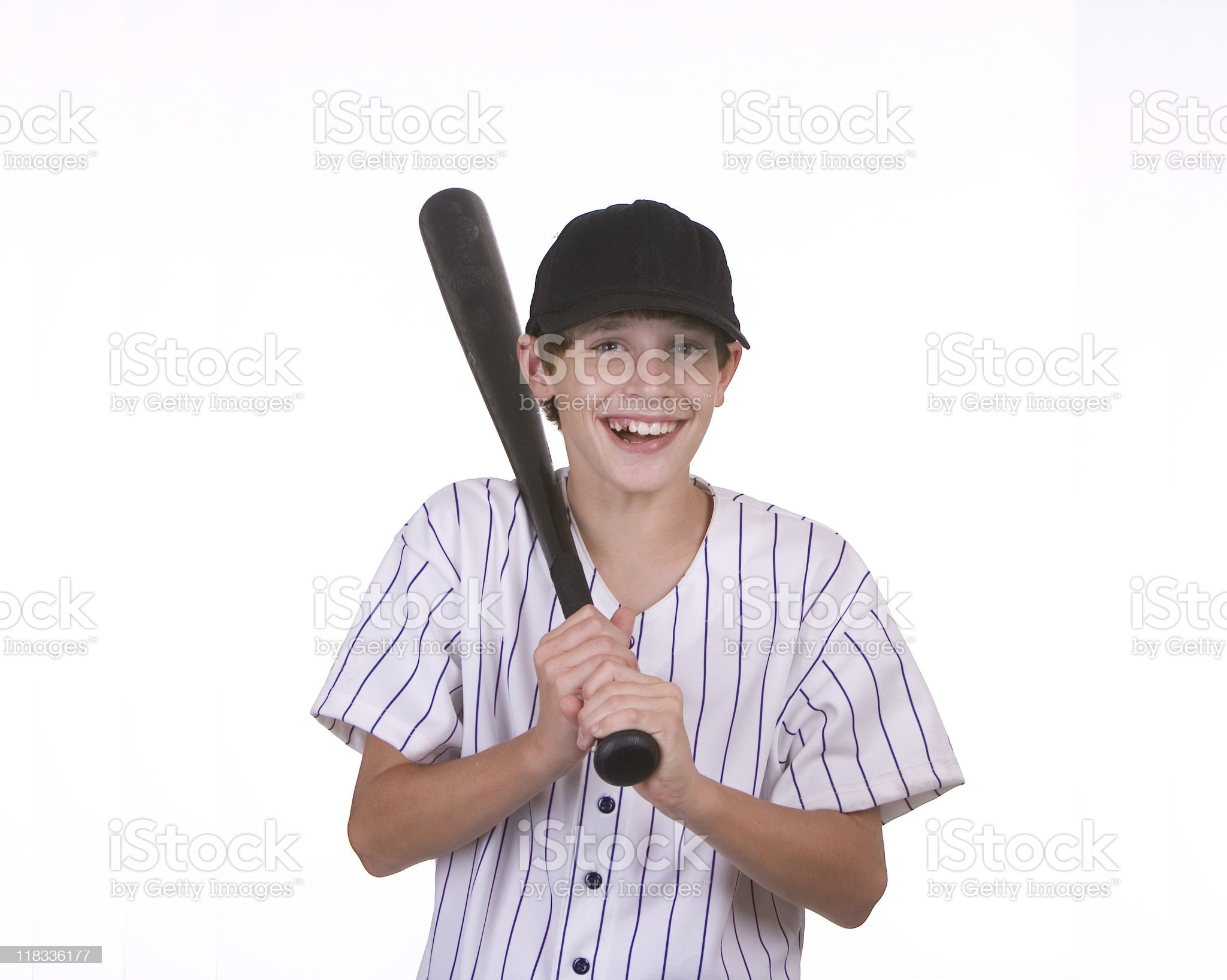 boy holding bat royalty-free stock photo