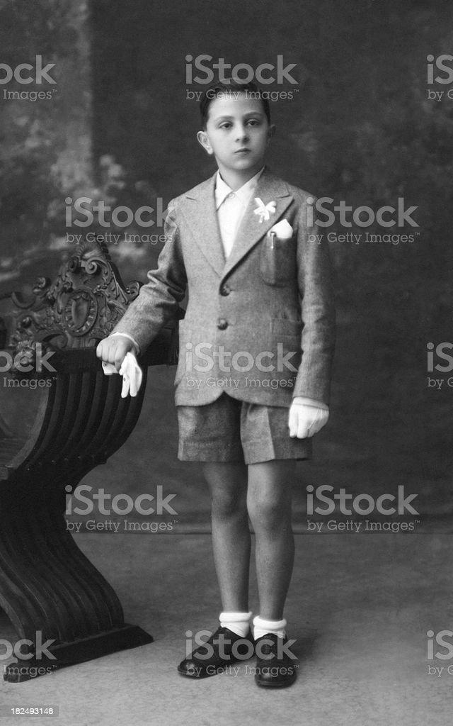 Boy in 1930 stock photo