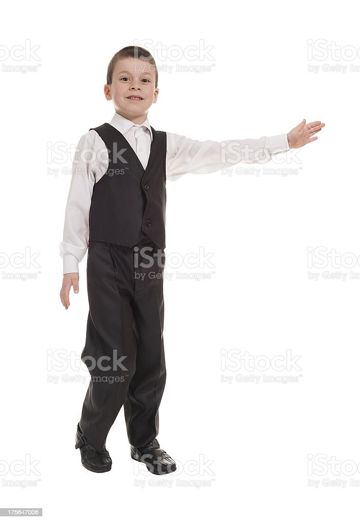 boy in a suit on white royalty-free stock photo