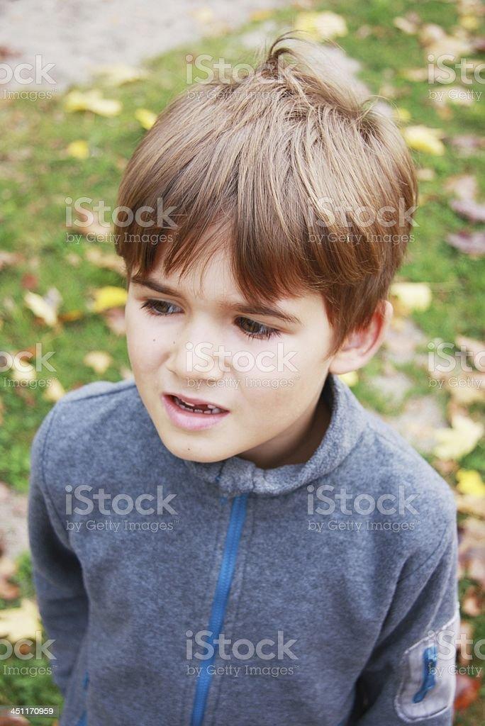 boy in autumn stock photo