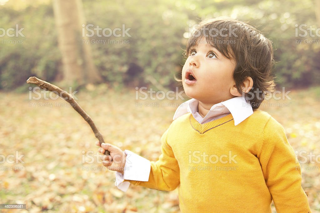 Boy in awe royalty-free stock photo