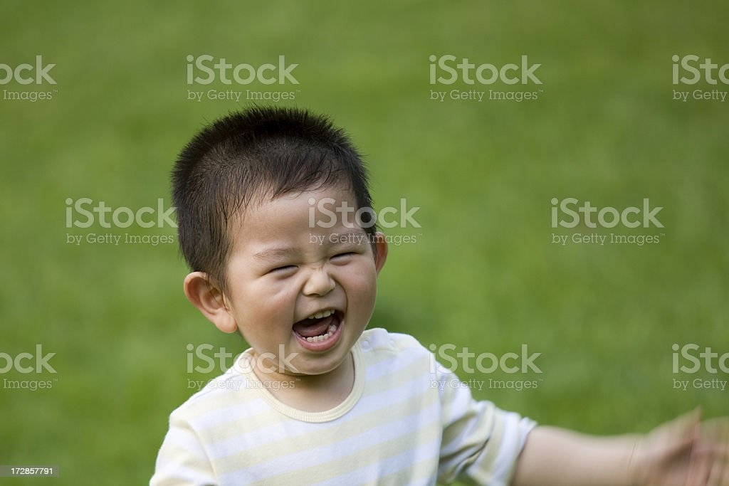 Boy in Big Laughing royalty-free stock photo