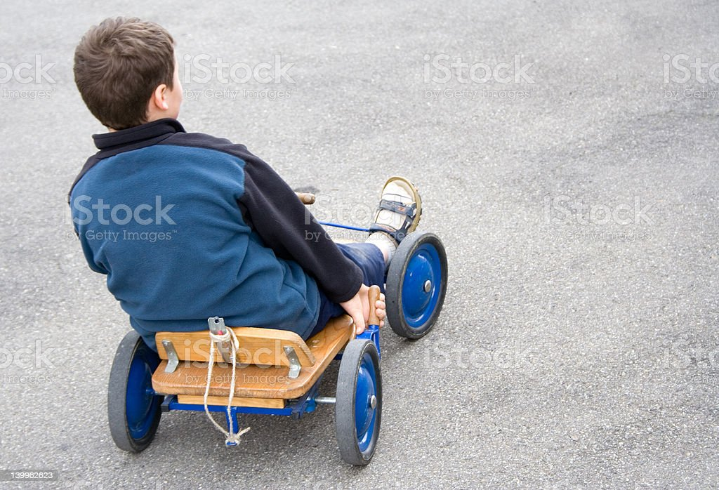 Boy in Cart royalty-free stock photo