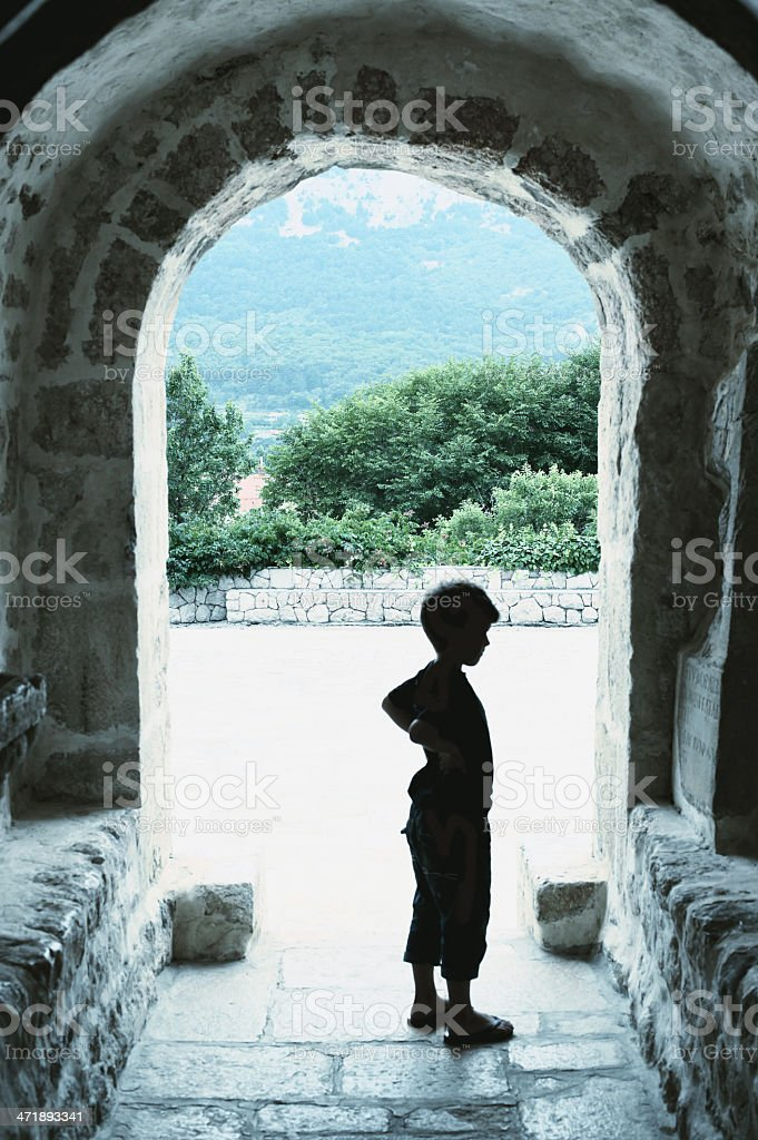 Boy in Church royalty-free stock photo