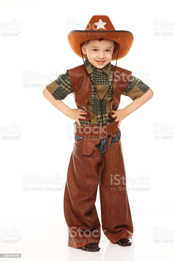 Boy in cowboy costume royalty-free stock photo