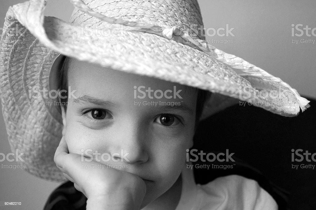 Boy in cowboy hat. royalty-free stock photo