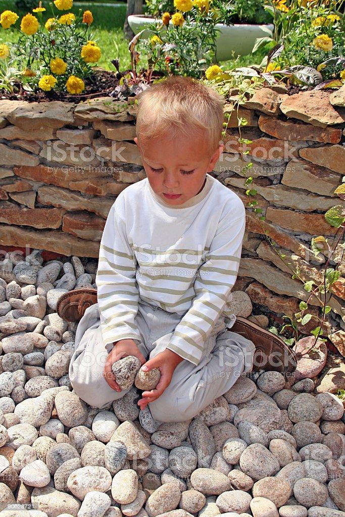 boy in  garden royalty-free stock photo