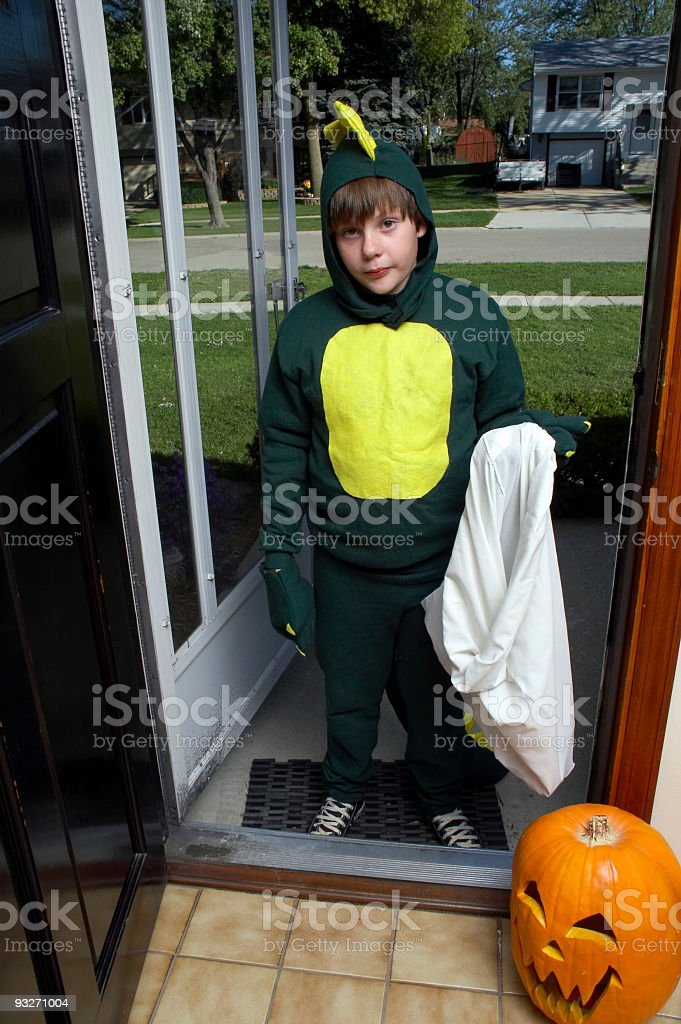 Boy in Halloween Costume #1 stock photo