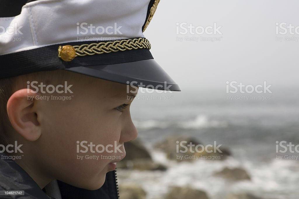 boy in love with the sea stock photo