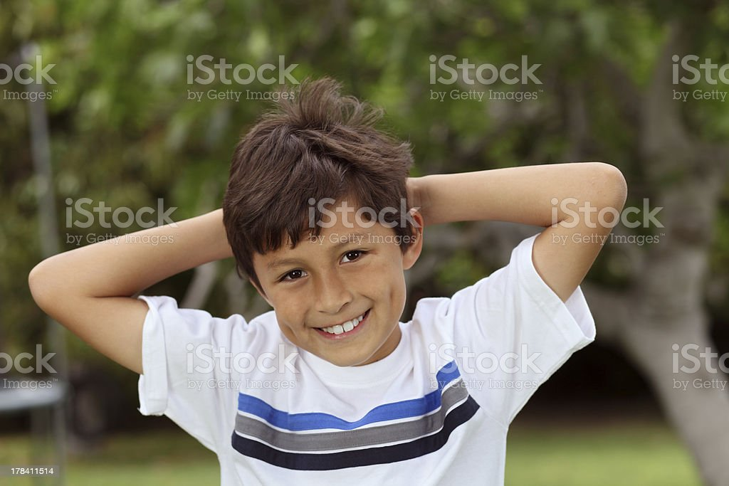 Boy in park royalty-free stock photo
