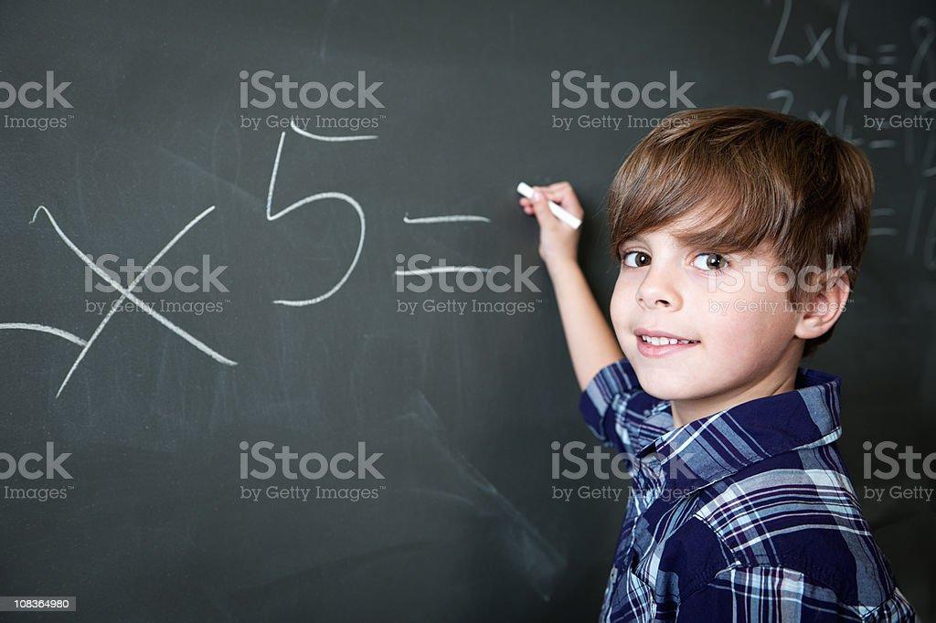 Boy In School royalty-free stock photo