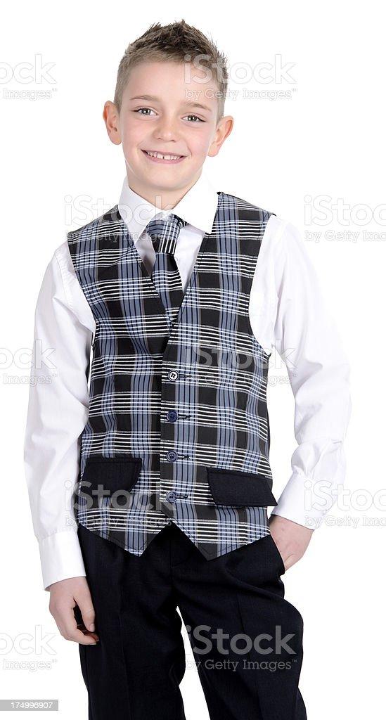 boy in school uniform royalty-free stock photo