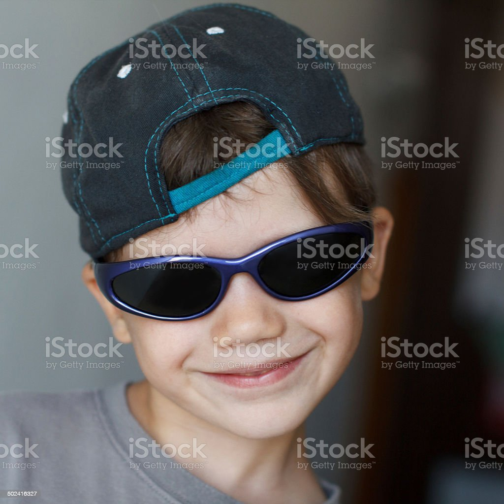 Boy in sunglasses royalty-free stock photo