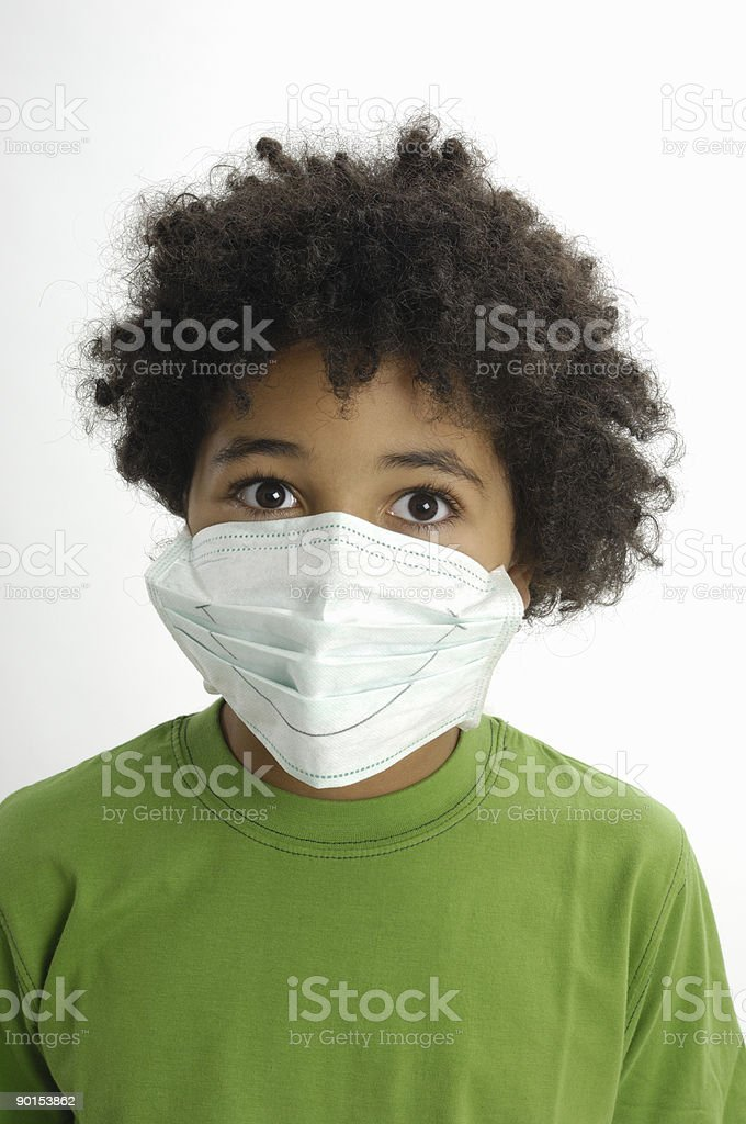 Boy in surgical mask royalty-free stock photo