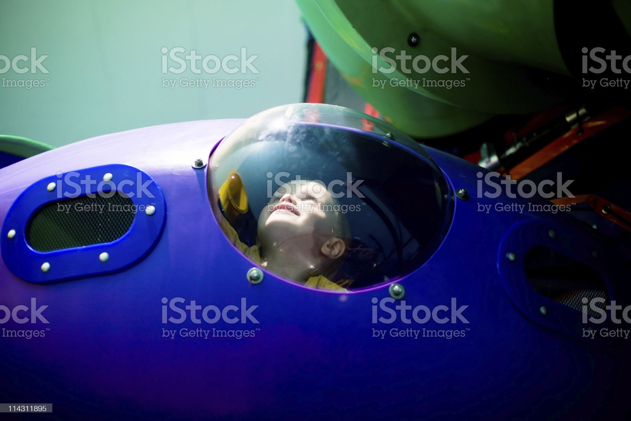 Boy in the bubble royalty-free stock photo