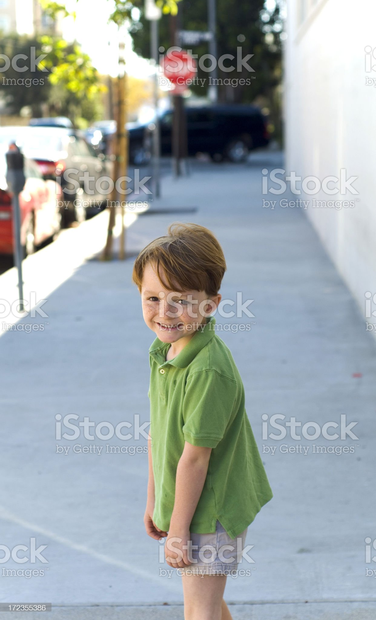 Boy in the City royalty-free stock photo