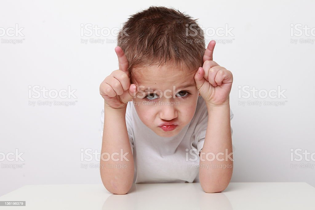boy is angry royalty-free stock photo