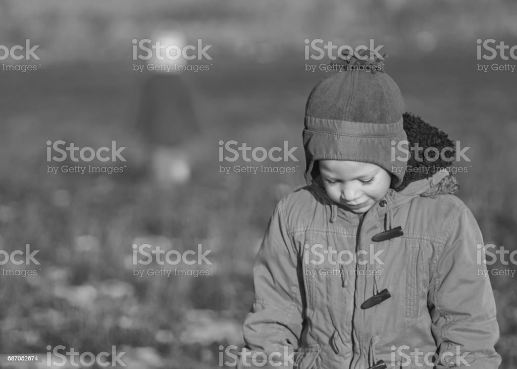 boy is ashamed stock photo