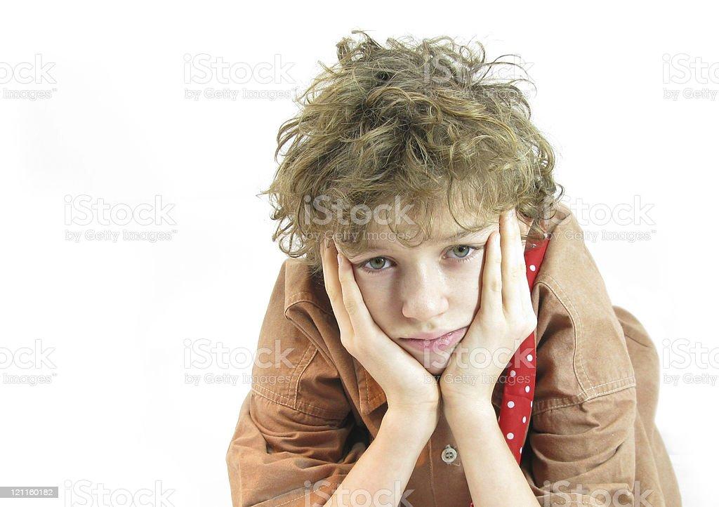 Boy is thinking royalty-free stock photo