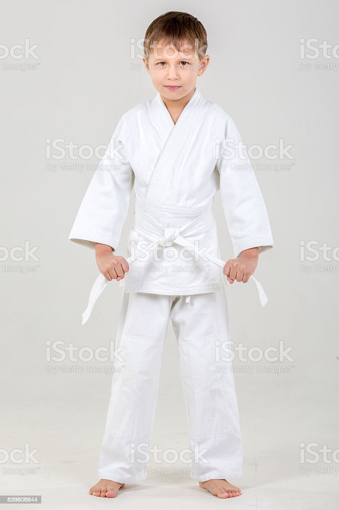 Boy Judo Fight stock photo