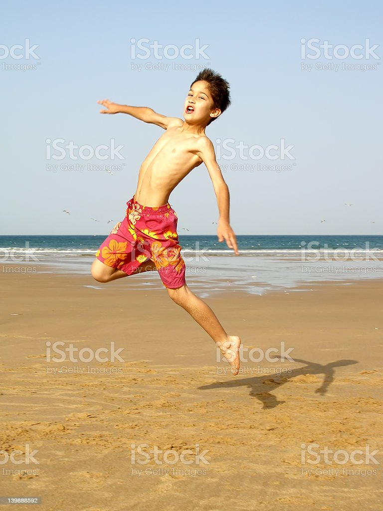 Boy jumping royalty-free stock photo