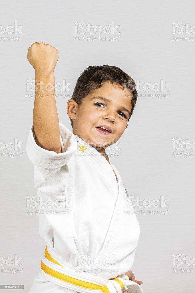 Boy Karate Uppercut royalty-free stock photo