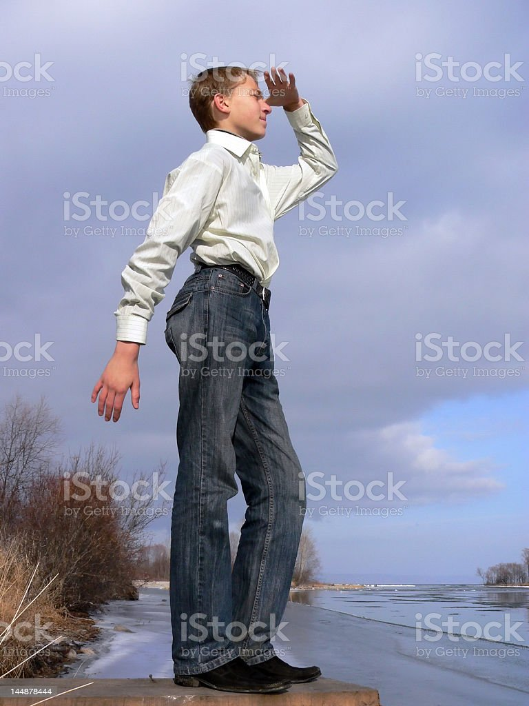 boy look royalty-free stock photo