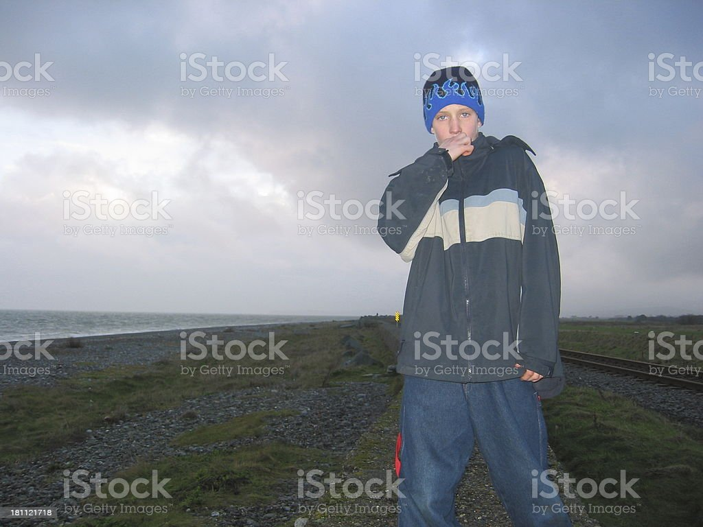 Boy Looking Rap Like royalty-free stock photo