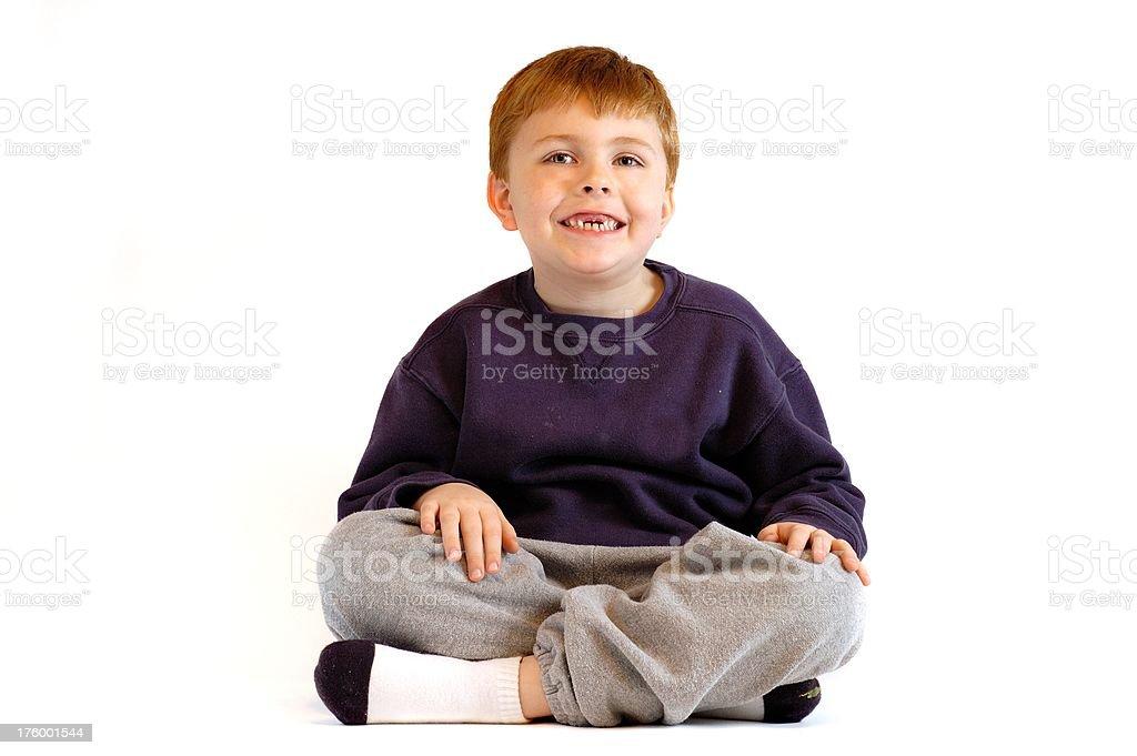 Boy missing teeth royalty-free stock photo