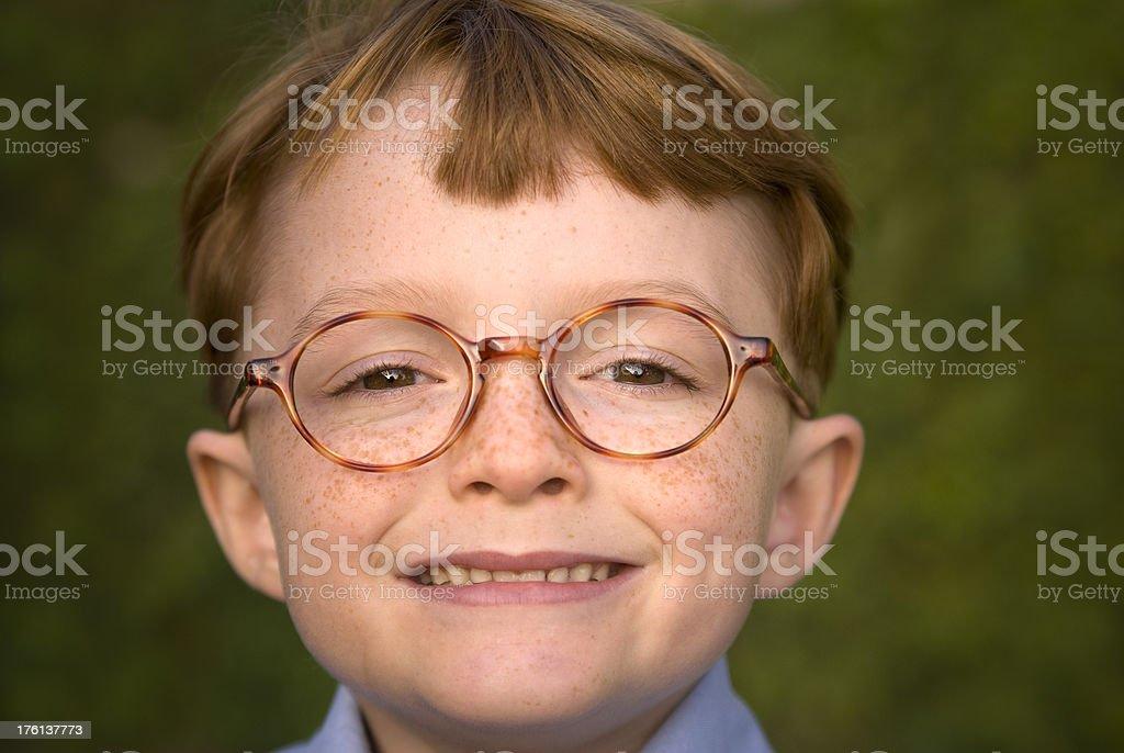 Boy Nerd with Eyeglasses royalty-free stock photo