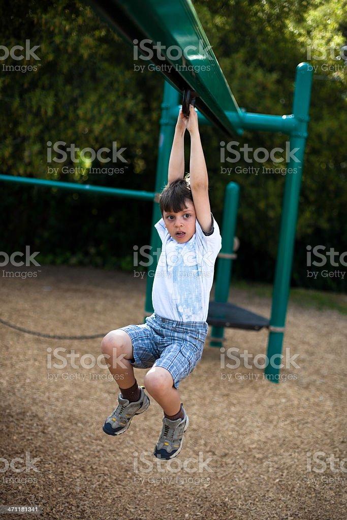 Boy on a Playground stock photo