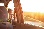 Boy on a road trip