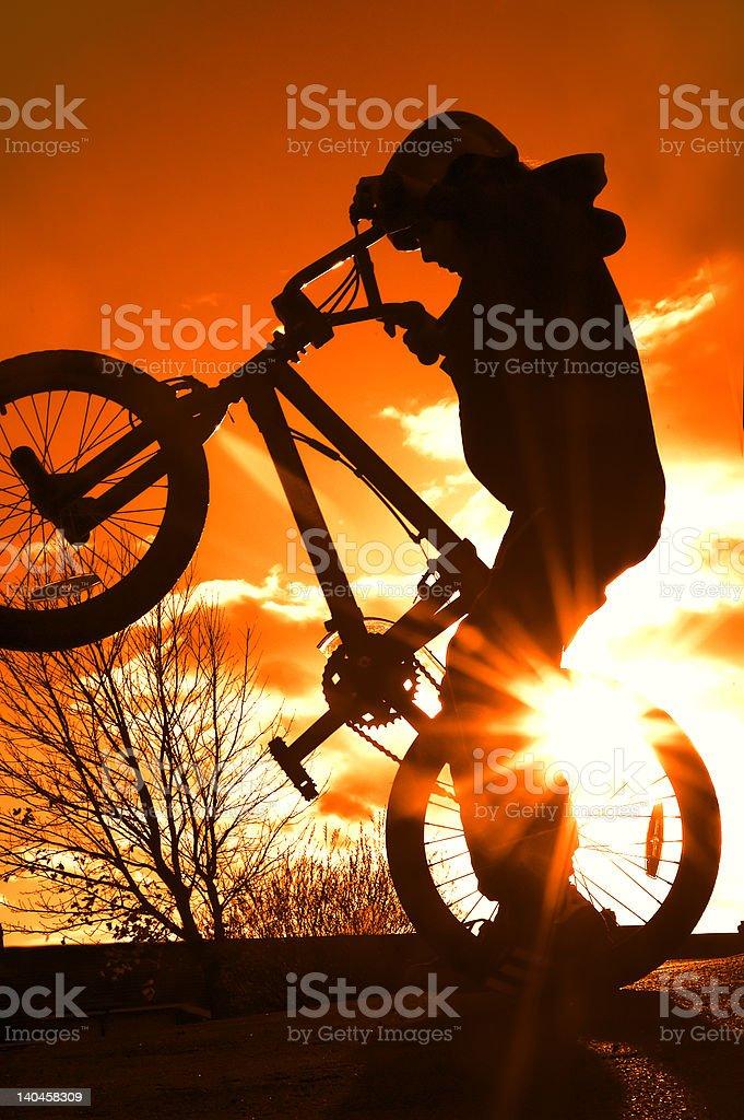 Boy on BMX royalty-free stock photo